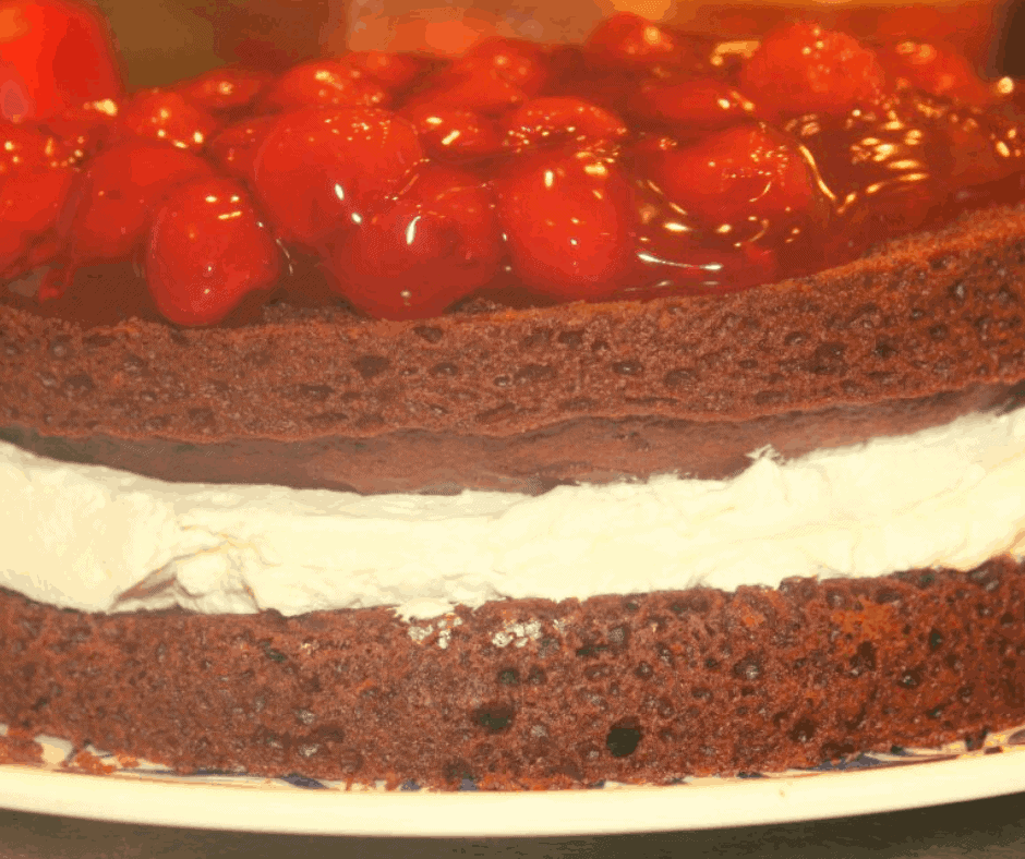 Air Fryer, Chocolate Cherry Torte Cake