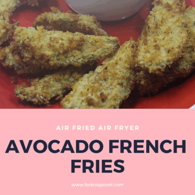 Air Fryer-Air Fried-Homemade Healthy Avocado French Fries