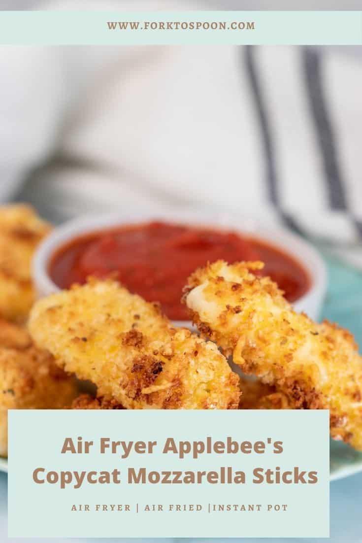 Air Fryer Applebee's Copycat Mozzarella Sticks