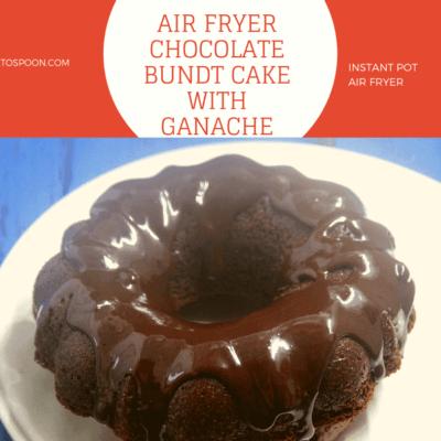 AIR FRYER-Chocolate Bundt Cake with Ganache Frosting