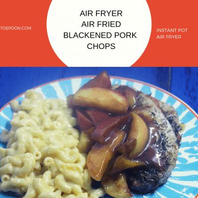 Air Fryer-Air Fried-Blackened Pork Chops (Pork Loin, Boneless)
