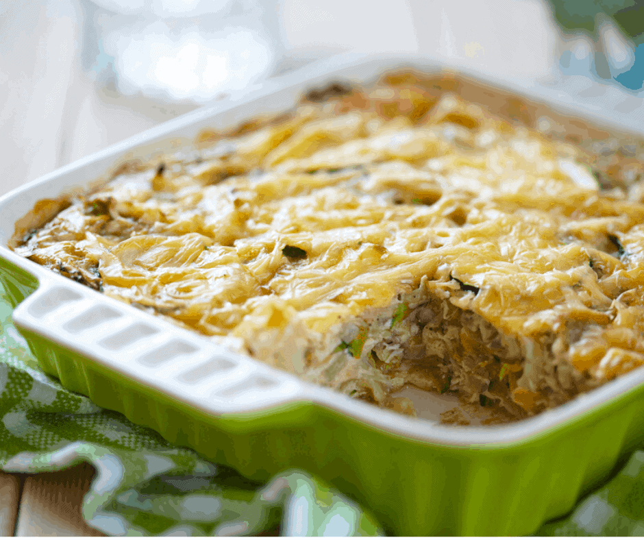 Air Fryer, Cheesy Baked Zucchini Casserole
