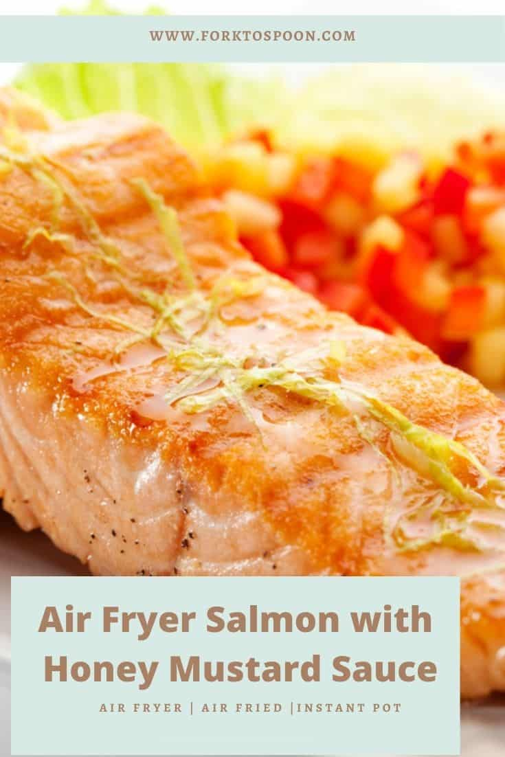 Air Fryer Salmon with Honey Mustard Sauce