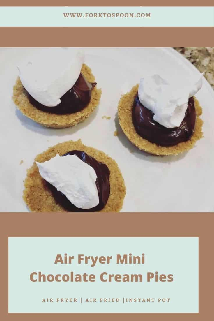 Air Fryer Chocolate Cream Pie