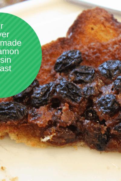 Air Fryer-Air Fried-Homemade Cinnamon and Raisin Toast