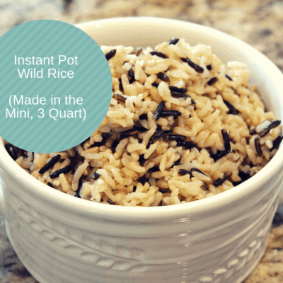 Pressure Cooker (Instant Pot) Wild Rice (Made in the Mini, 3 Quart)