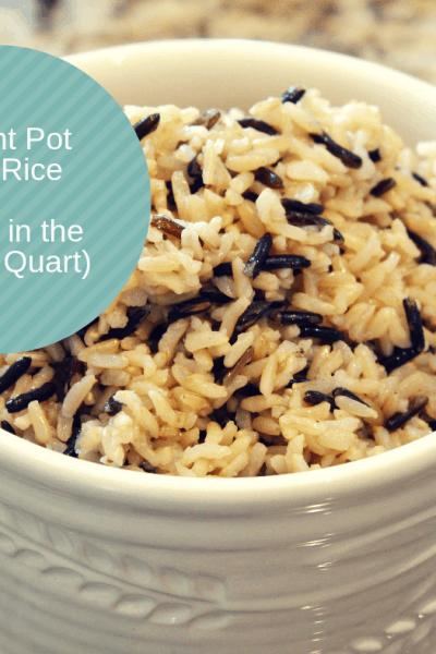 Pressure Cooker (Instant Pot) Wild Rice (Made in the Mini, 3 Quart)