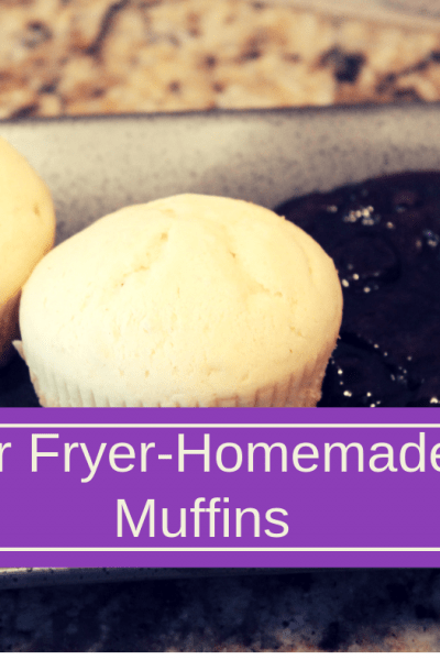 Air Fried-Air Fryer-Basic Muffins (Base, Blueberry, Chocolate Chip, Strawberry, Etc.)