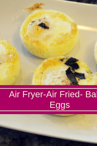 Air Fryer-Air Fried-Baked Eggs With Herbs