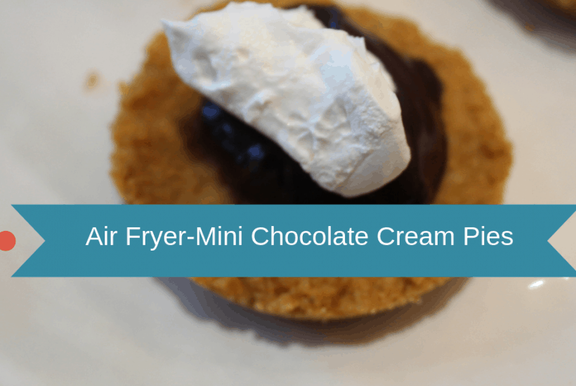 Air Fryer-Air Fried-Homemade Mini Chocolate Cream Pies (Chocolate Pudding Cups)