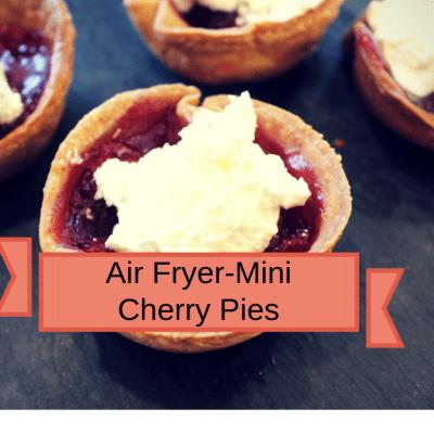 Air Fryer-Air Fryer-Homemade Mini Cherry Pies