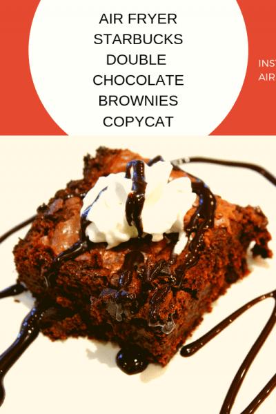 Air Fried-Air Fryer-Starbucks Double Chocolate Brownies {Copycat Recipe}