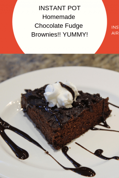 Pressure Cooker (Instant Pot) Homemade Chocolate Fudge Brownies!! YUMMY!