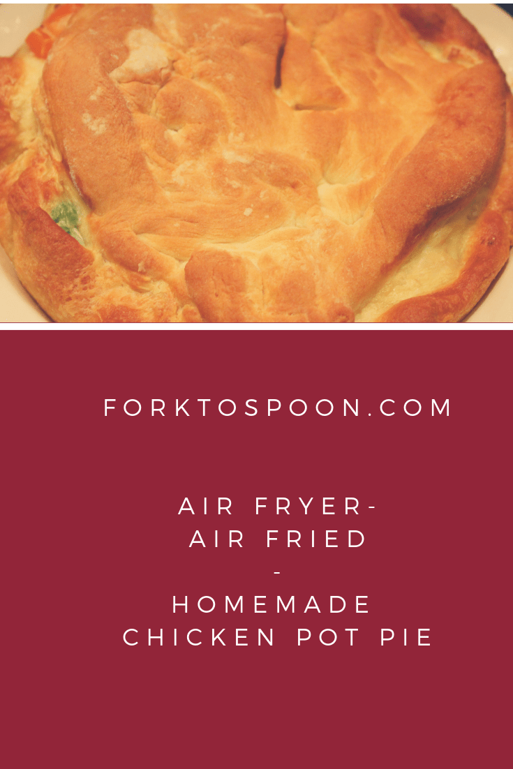 photograph about Printable Air Fryer Cooking Chart referred to as Air Fryer-Air Fried-Selfmade Chook Pot Pie