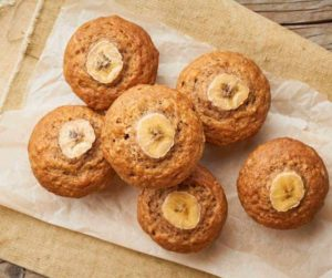 Air Fryer Banana Muffins on cooling rack