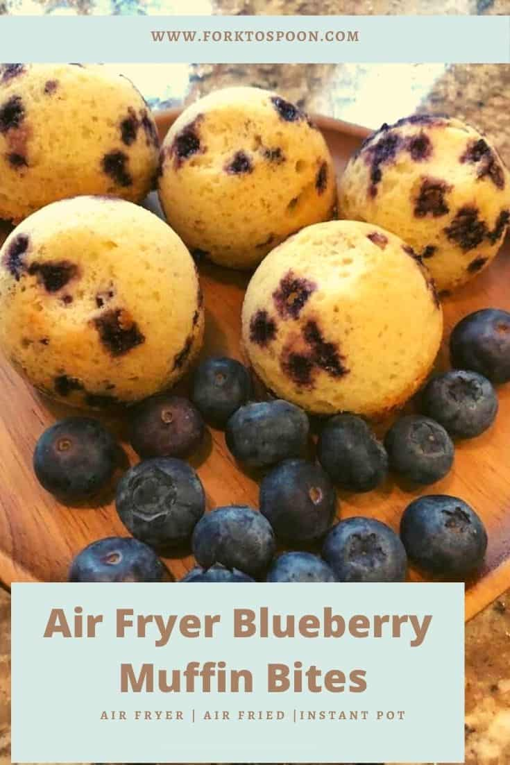 Air Fryer Blueberry Muffin Bites