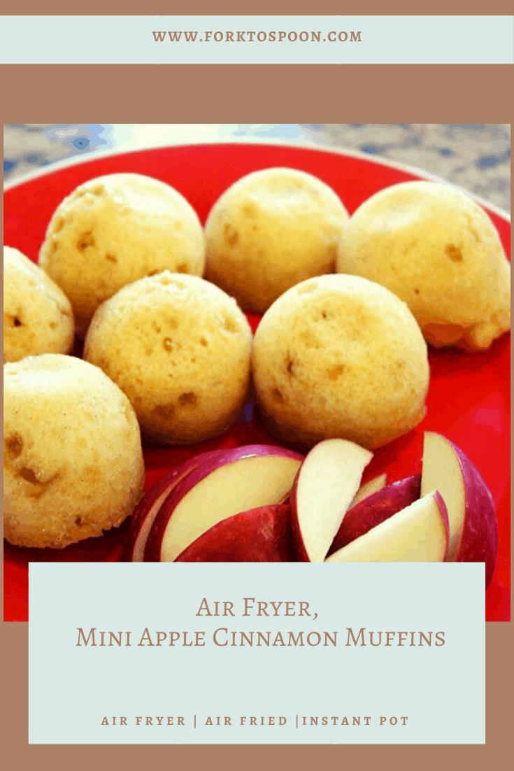 Air Fryer Apple Cinnamon Muffins