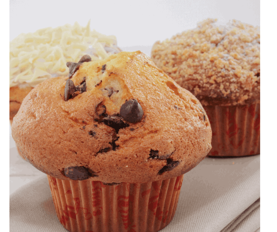 Air Fryer Bakery Style Chocolate Chip Muffins