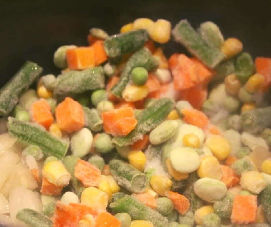 Add Frozen Vegetables