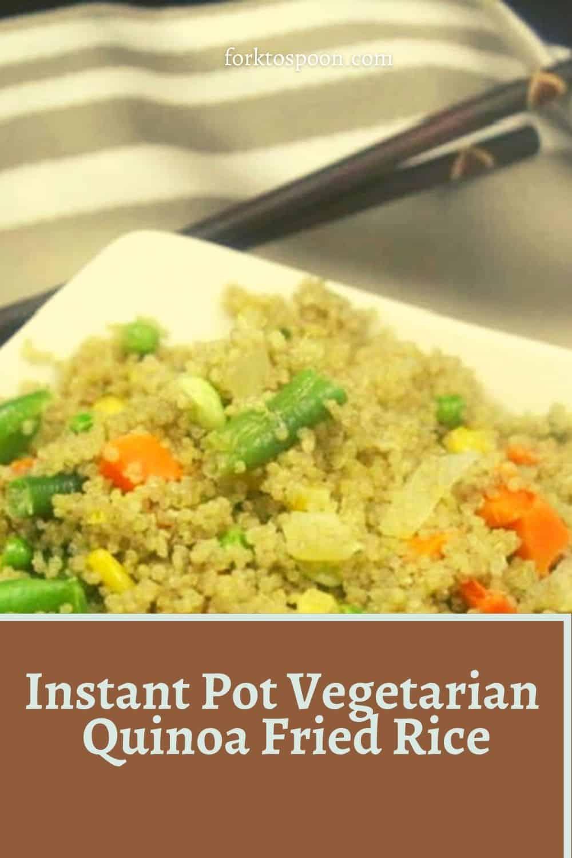 Instant Pot Vegetarian Quinoa Fried Rice