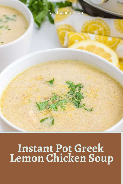 Instant Pot Greek Lemon Chicken Soup
