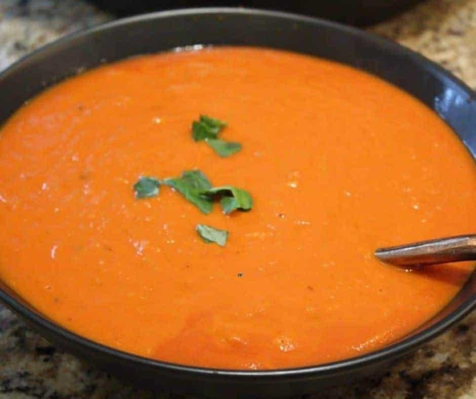 Instant Pot Copycat Nordstrom's Tomato Basil Soup