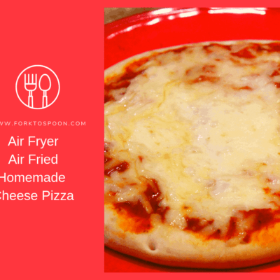 Air Fryer-Air Fried-Homemade Cheese Pizza