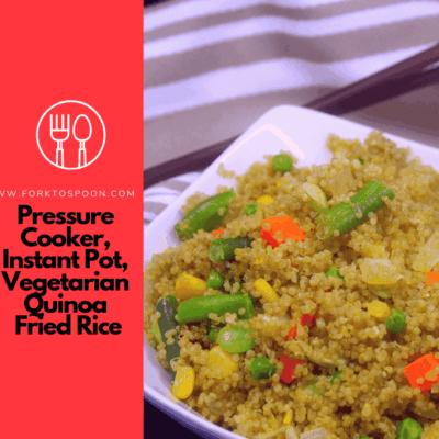 Pressure Cooker, Instant Pot, Vegetarian Quinoa Fried Rice