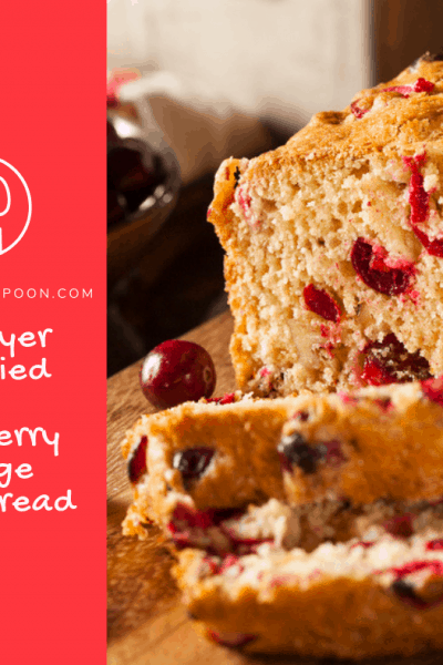 Air Fryer, Air Fried, Homemade Cranberry Orange Quick Bread Loaf