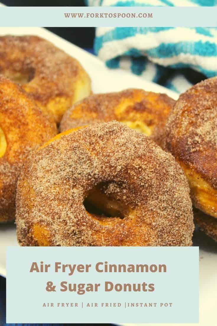 Air Fryer Cinnamon & Sugar Donuts
