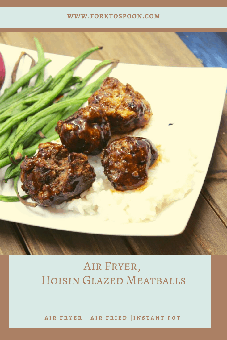 Air Fryer, Hoisin Glazed Meatballs
