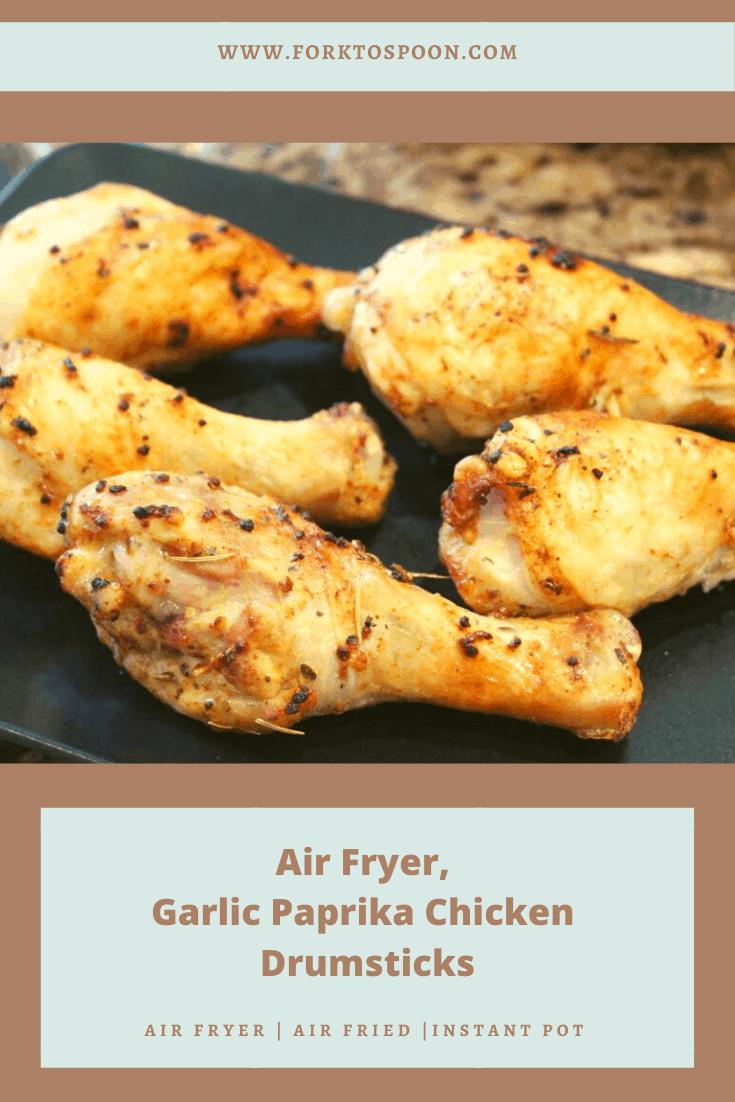 Air Fryer, Garlic Paprika Chicken Drumsticks
