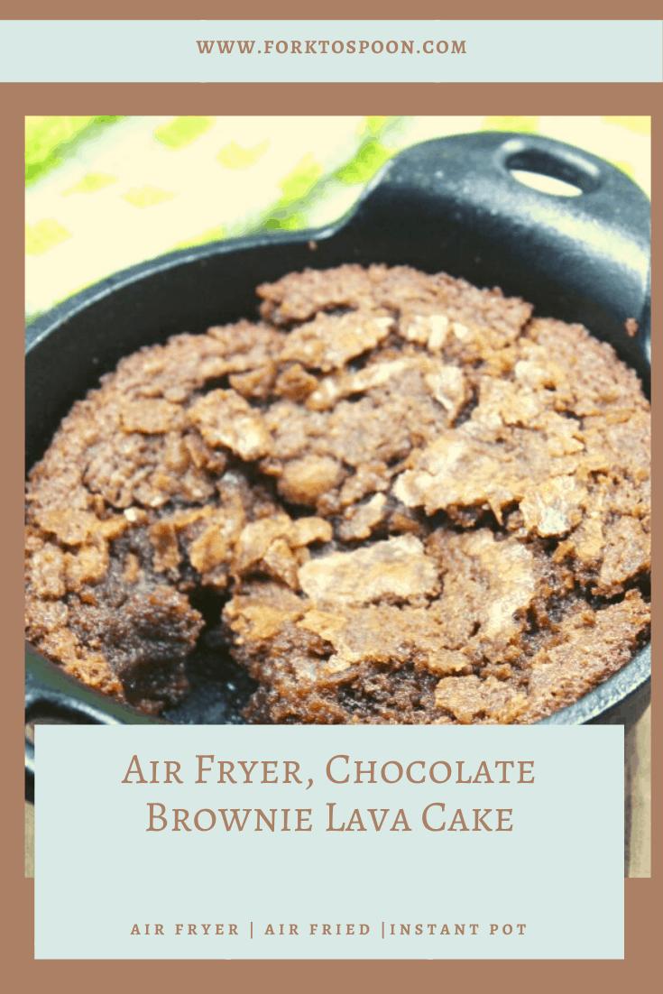 Air Fryer, Chocolate Brownie Lava Cake