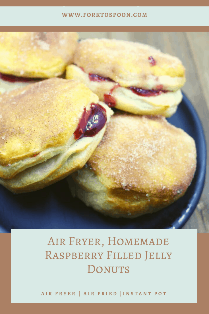 Air Fryer, Homemade Raspberry Filled Jelly Donuts