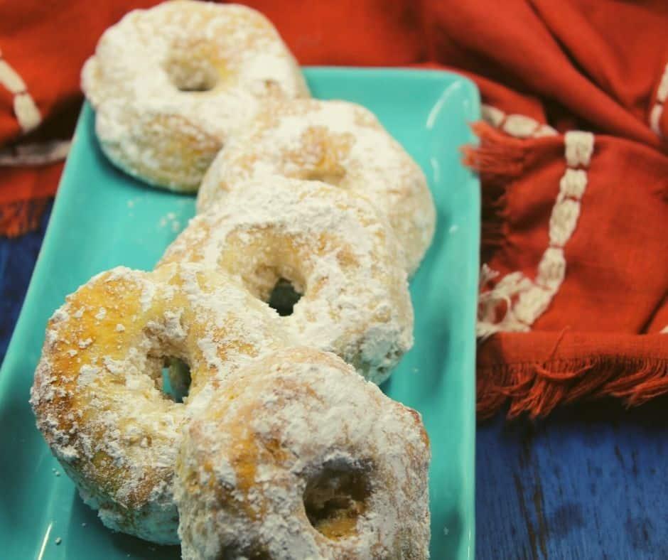 Air Fryer Powdered Sugar Donuts