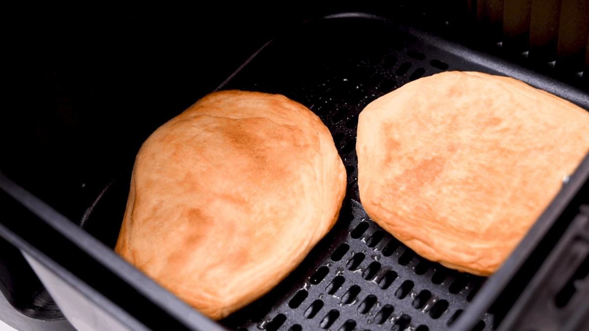Air Fryer Fried Dough in Air Fryer Basket