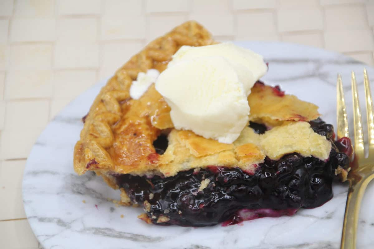Blueberry Pie in Plate