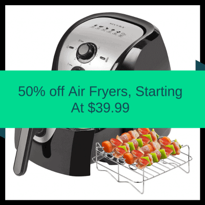 HURRY–50% off Air Fryers, Secura 5.3-Quart Air Fryer Just $39.99 Shipped on Amazon