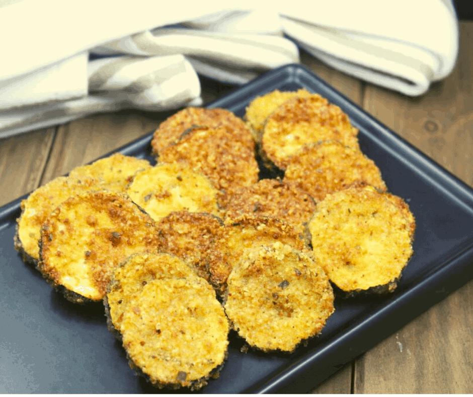 Air Fryer Zucchini Parmesan Chips