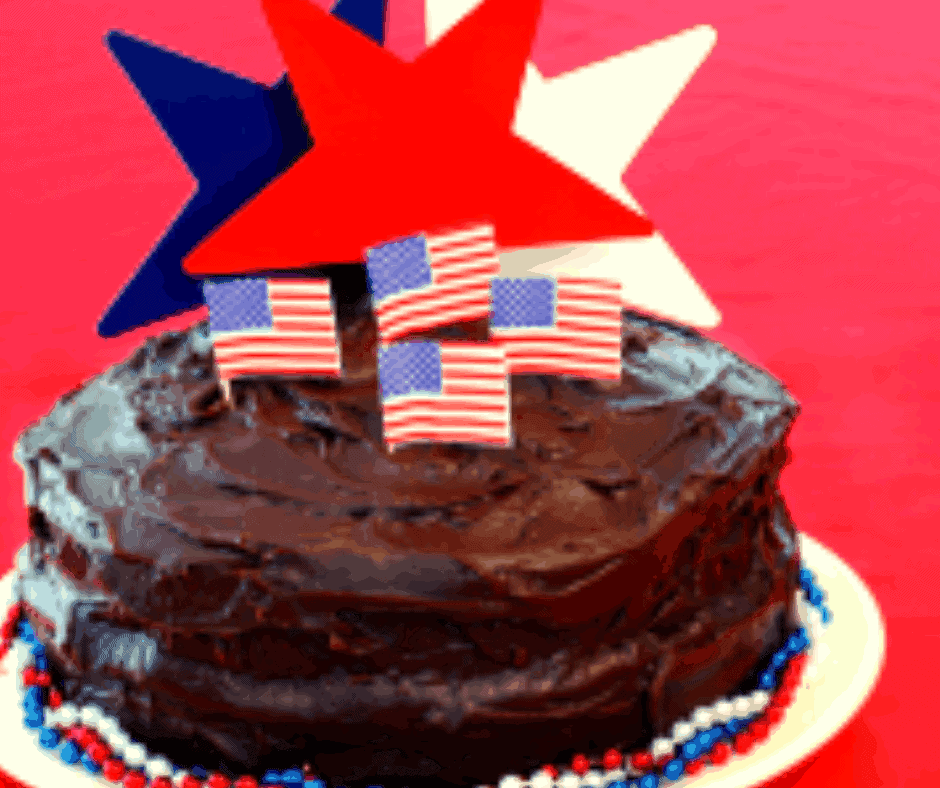 Air Fryer 4th of July Cake