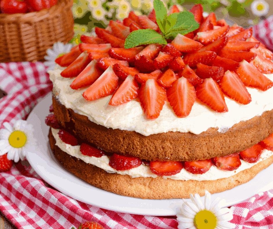 Air Fryer Strawberry Shortcake