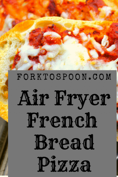 Air Fryer, Air Fried, Easy Homemade French Bread Pizza
