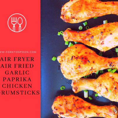 Air Fryer, Air Fried, Garlic Paprika Chicken Drumsticks