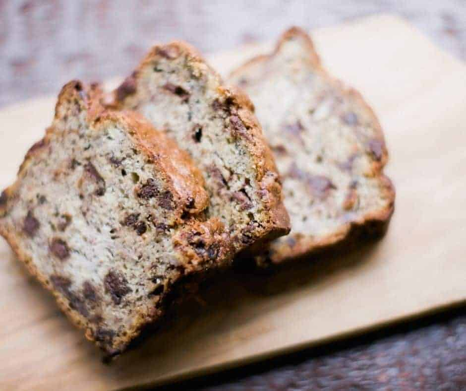 Air Fryer Chocolate Chip Quick Bread