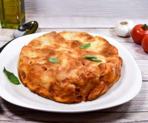 Air Fryer Pepperoni Pizza Bake