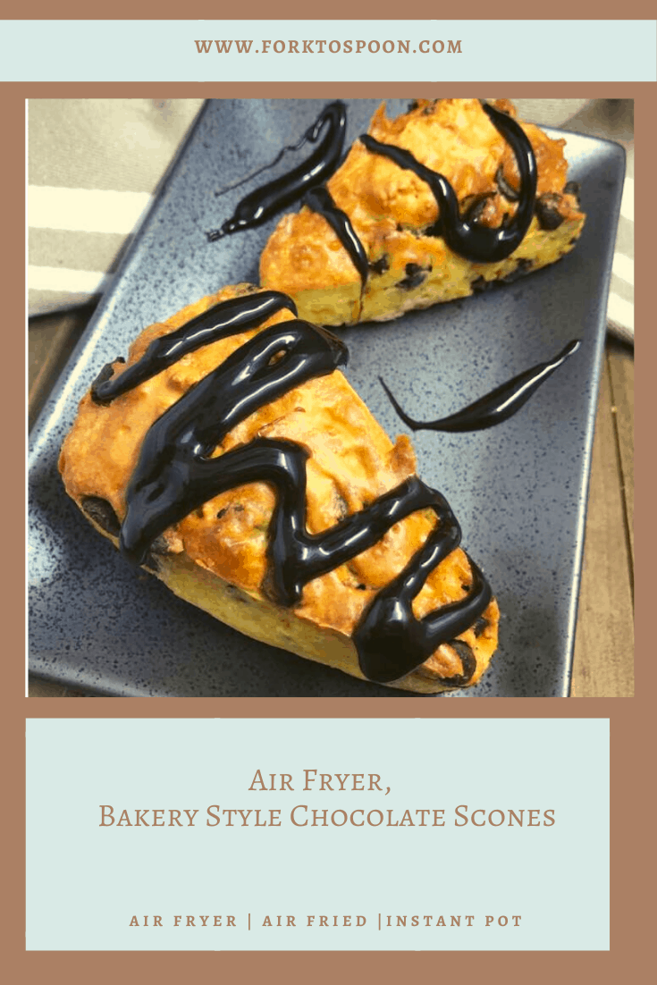 Air Fryer, Bakery Style Chocolate Scones