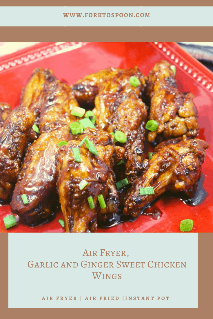 Air Fryer, Garlic and Ginger Sweet Chicken Wings