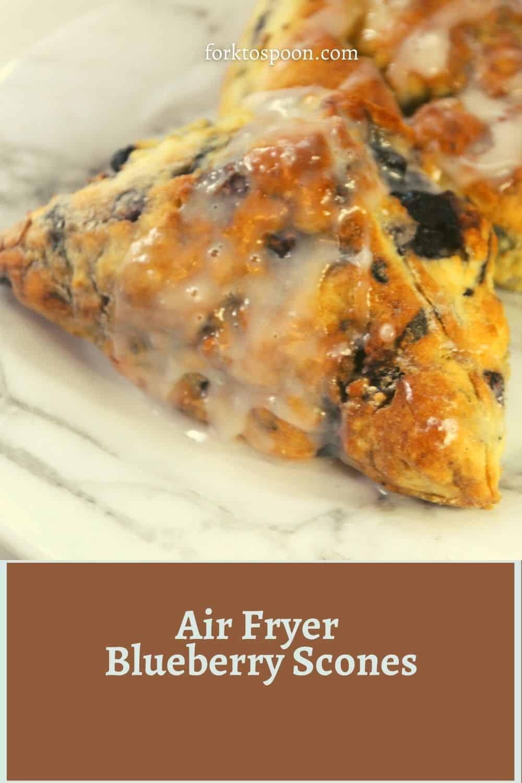 Air Fryer Blueberry Scones