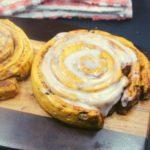 Air Fryer Giant Cinnamon Rolls