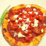 Air Fryer Mediterranean Veggie Naan Pizza